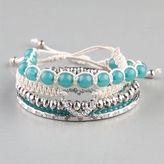 Full Tilt 5 Piece Marble Bead/Heart Cord Bracelts