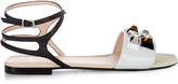 Fendi Rainbow stud-embellished leather sandals