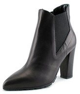 Luca Valentini Zelda Women Pointed Toe Leather Black Ankle Boot.