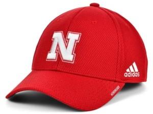 adidas Nebraska Cornhuskers Sideline Coaches' Flex Cap