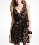 Express Leopard Burnout Elastic Waist Dress