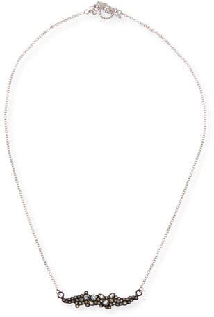 Armenta New World Diamond & White Sapphire Cluster Bar Necklace