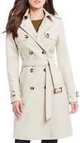 Antonio Melani Double Breasted Belted Trench Coat