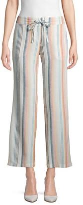 Alexander Jordan Striped Cropped Pants
