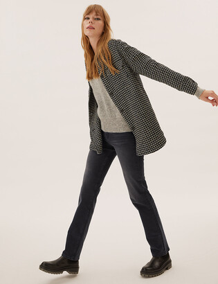 Marks and Spencer Magic Sculpt High Waisted Straight Leg Jeans