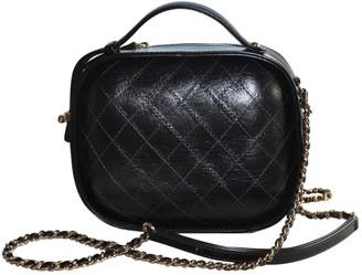 Chanel Vanity Black Leather Handbags