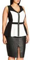 City Chic Plus Size Women's New York Peplum Top