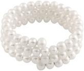 Bella Pearl White Pearl Coil Bracelet