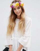 Asos Festival Rainbow Flower Headband