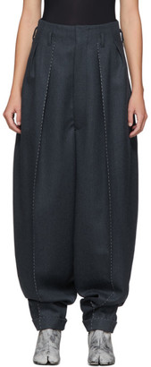 Maison Margiela Blue High-Waisted Runway Trousers