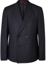 Hugo Andrew Navy Double-breasted Wool Blazer