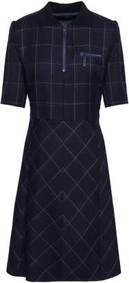 Piazza Sempione Checked Wool-blend Dress