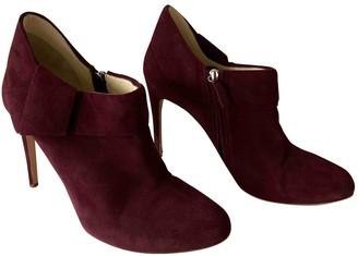 Rupert Sanderson Purple Leather Ankle boots