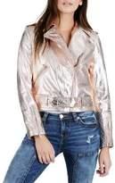 True Religion Rose Gold Leather Jacket