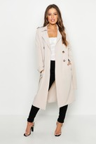 Thumbnail for your product : boohoo Petite Utility Button Detail Trench Coat