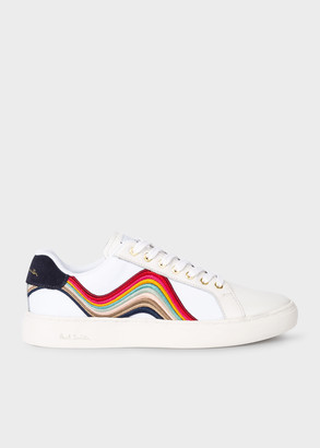 Women's White 'Lapin' Trainers With 'Swirl' Embroidery