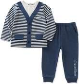 Calvin Klein Baby Boys' 2 Pc Pant Set with Vest