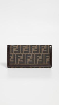 Fendi Brown Zucca Long Wallet