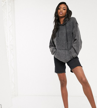 Asos DESIGN Tall oversized boyfriend hoodie in washed black