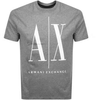 Armani Exchange Crew Neck Logo T Shirt Grey