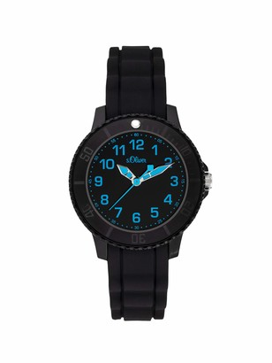 S'Oliver Boys Analogue Quartz Watch with Silicone Strap SO-3917-PQ