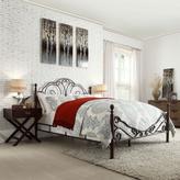 HomeSullivan Valencia King-Size Poster Bed in Bronzed Black + Cherry