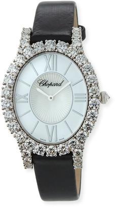 Chopard L'Heure du Diamond Oval Medium Watch in 18k White Gold, 7.13tcw