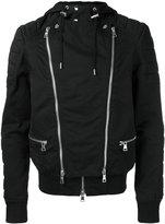 Balmain hooded biker jacket - men - Cotton - L