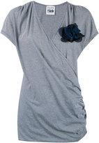 Twin-Set jersey wrap T-shirt