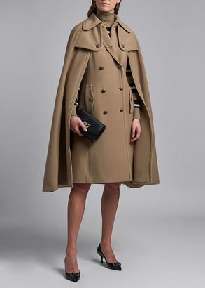 Dolce & Gabbana Long 8-Button Wool Cape Coat
