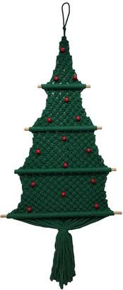 St. Nicholas Square Macrame Christmas Tree Wall Decor