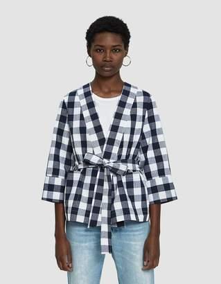 Farrow Mercy Checked Kimono Blazer