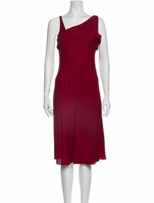 Narciso Rodriguez Silk Midi Length Dress w/ Tags Red