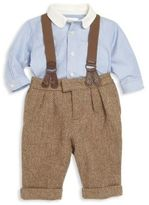 Ralph Lauren Baby's Three-Piece Shirt, Pant & Braces Set