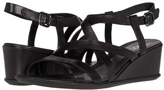 Ecco Shape 35 Wedge Sandal (Black Cow Leather) Women's Sandals