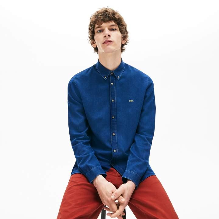 8c4f0e1ccc Men's Regular Fit Indigo Poplin Shirt