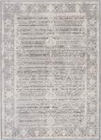 Ecarpetgallery eCarpet Gallery 213189 Transitional Aqua Silk Open Field 5' x 7' Gray Living Room Dining Room Area Rug