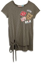 Vintage Havana Girls' Knot Front Patch Tee - Sizes S-XL