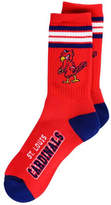 For Bare Feet St. Louis Cardinals Retro 4 Stripe Deuce Crew Socks
