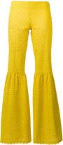 Daizy Shely - fitted flare trousers - women - Cotton - 38