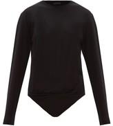 Atm ATM - Long-sleeve Cotton-jersey Bodysuit - Womens - Black