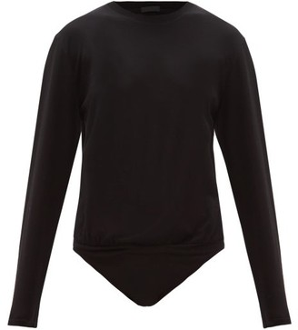 Atm - Long-sleeve Cotton-jersey Bodysuit - Womens - Black