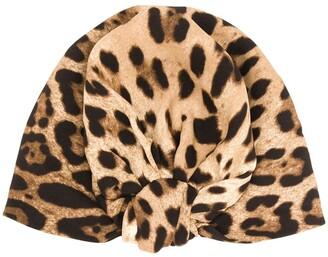 Dolce & Gabbana leopard print turban