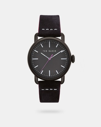 Ted Baker TOMCOOA Suede strap watch