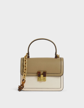Charles & Keith Small Chunky Chain Strap Bag