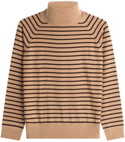 Marc Jacobs Striped Wool Turtleneck Pullover