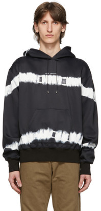 Oamc Black and White Corrosion Hoodie