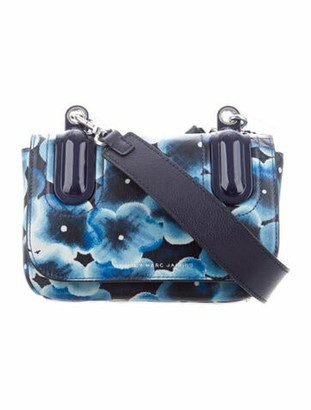 Marc by Marc Jacobs Floral Print Skipper Crossbody Bag w/ Tags silver