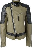 Diesel Black Gold off-centre zip jacket