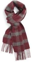 Nordstrom Men's Plaid Stripe Wool Scarf